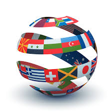 globe with flag