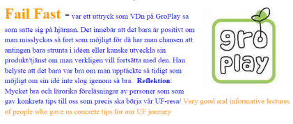 GroPlay lecture